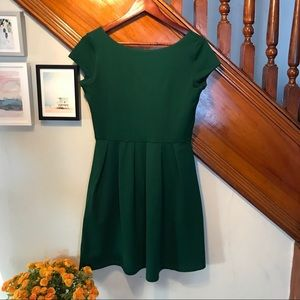 Susana Monaco Hunter Green Mini Dress